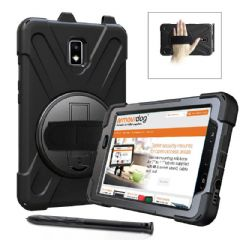 Rugged case Samsung Tab Active2 8.0 T390  & T395  hand/shoulder strap, kick stand & screen protector